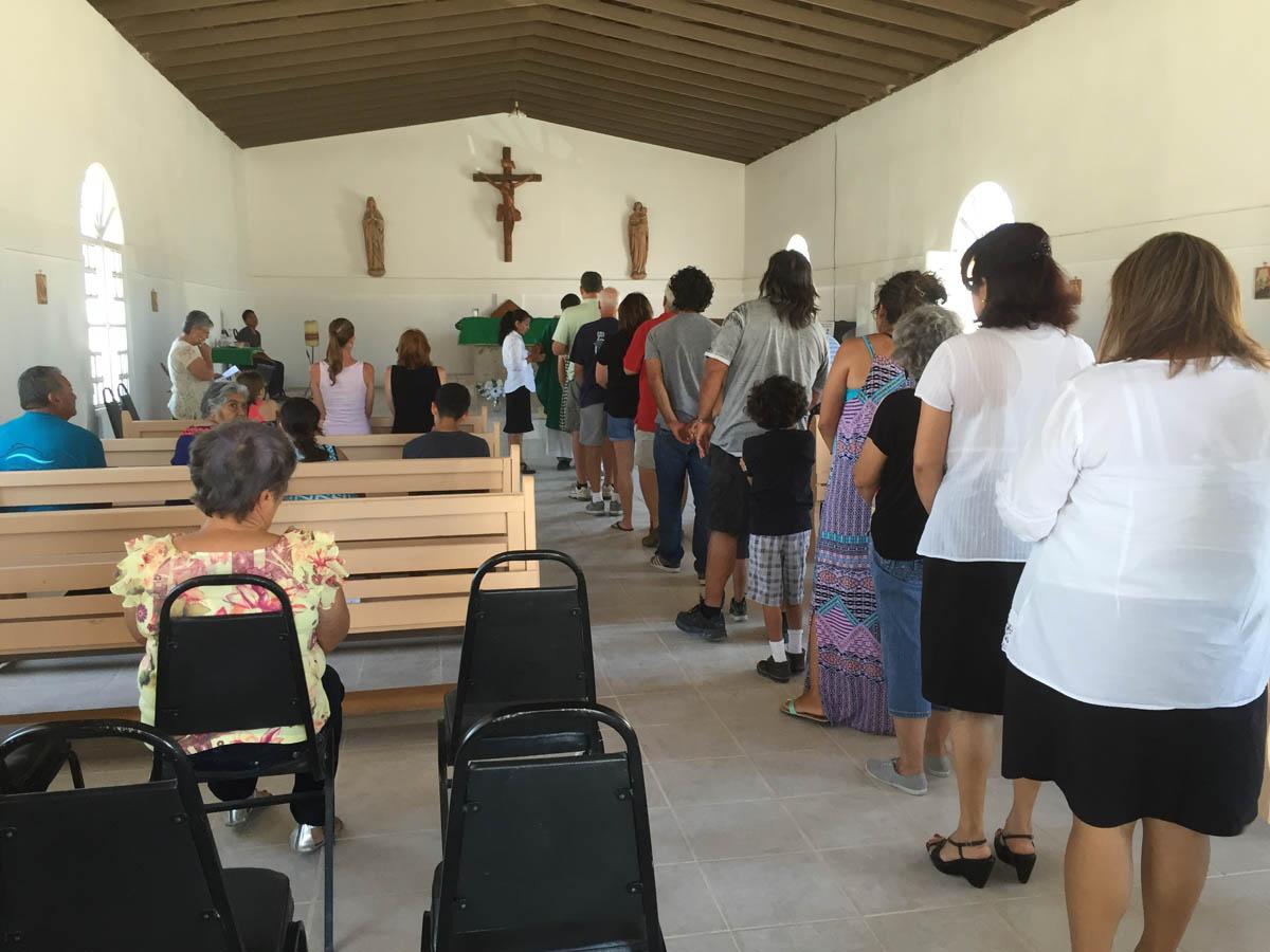 Beautiful new ceramic tile added at San Jose' Church in La Cholla