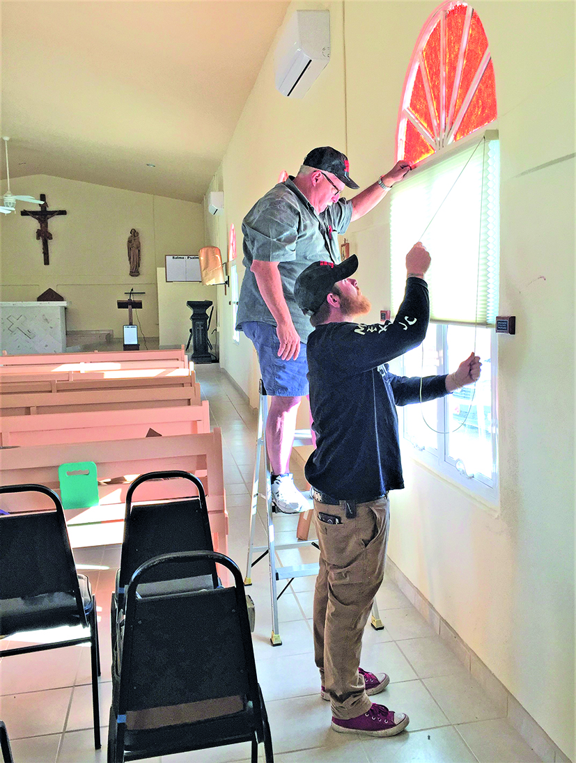St. Joseph's window treatments